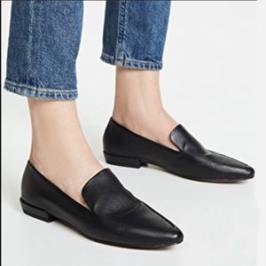 Steve Madden Black Haylie Leather Loafers NWT 10